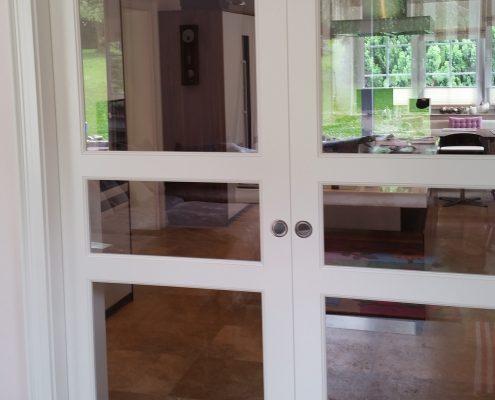 2-flügelige Schiebetür mit synchrongesteuerten Türen