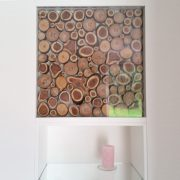 Individuelle Wandnischen mit Glas und Holz