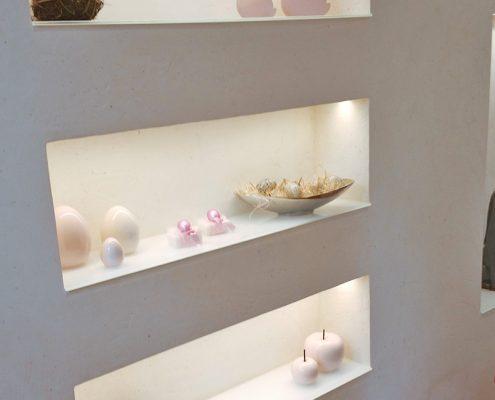 Wandnischen mit LED Beleuchtung
