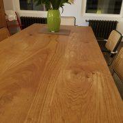 Tischplatte aus Eiche-Massivholz