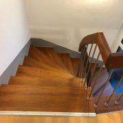 Treppenstufen von oben