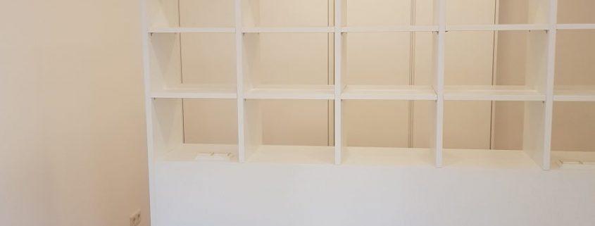 Doppelbettgestell in Senn-Esche weiß lackiert
