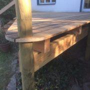 Holzdeck mit Douglasie-Balken