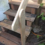 Holztreppe Geländer