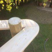 Holzdeck Geländer