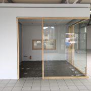 Office Box in Glas/Holz, Schallschutzverglasung