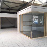 Office Box in Glas/Holz, Griffbeschläge: Junior Office in Edelstahl
