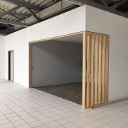 Office Box in Glas/Holz, Oberfläche geölt und gewachst