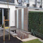 3-teiliger Sichtschutz für Terrasse